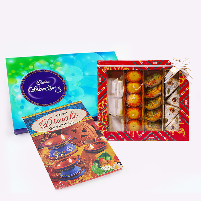 Cadbury Celebration Pack with Assorted Sweet and Diwali Card