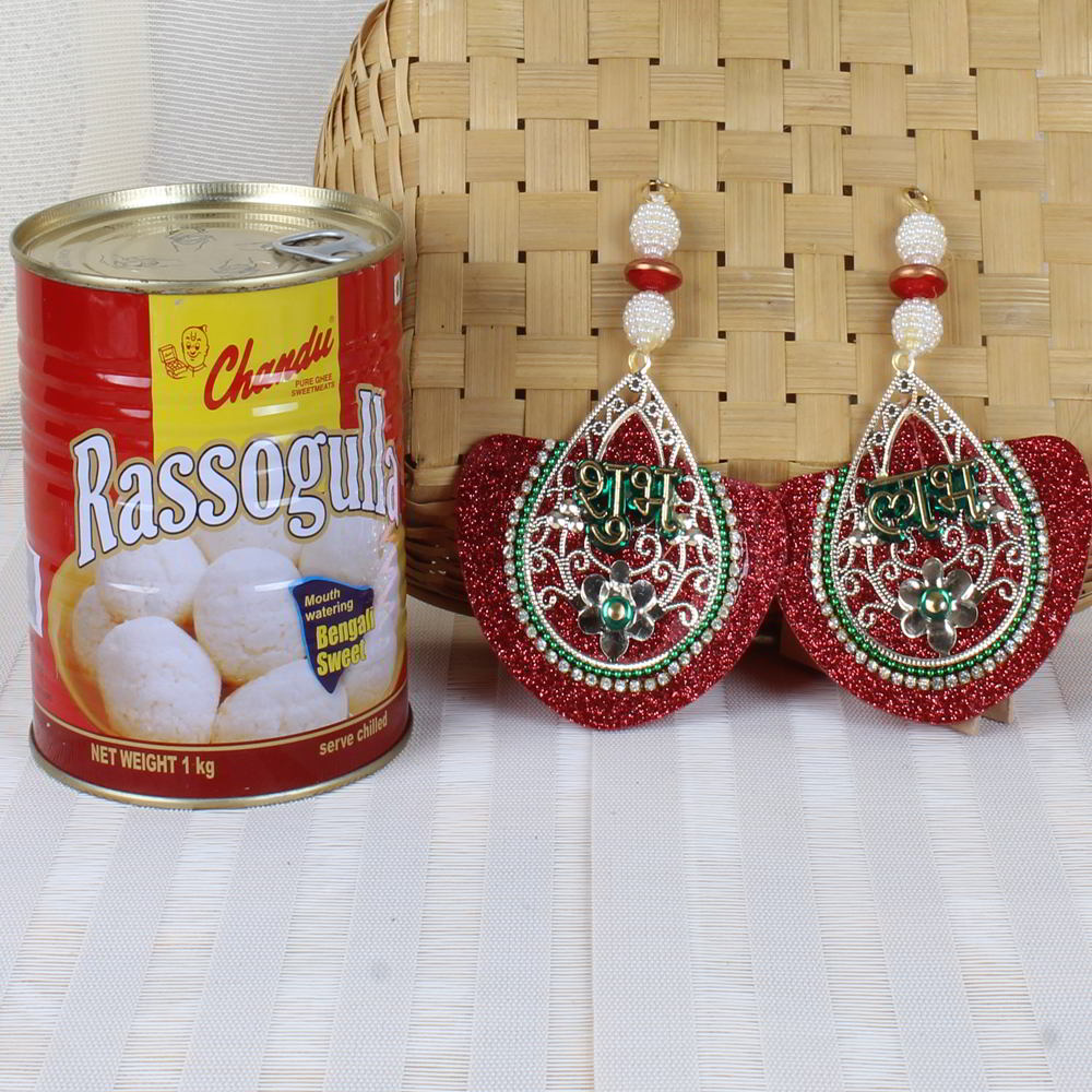 Shubh Labh Wall Hanging and Rasgulla Sweets