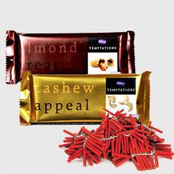 2 Cadbury temptations with crackers