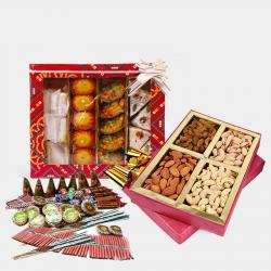 Assorted Sweet and Assorted Dryfruits and Diwali Fire Cracker