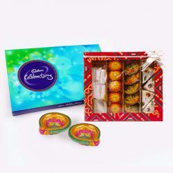 Cadbury Celebration Chocolate Pack with Assorted Sweet and Diwali Diya