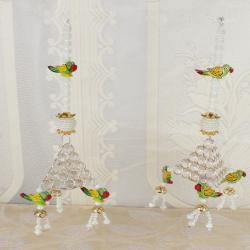 Crystal and Perrot Design Diwali Door Hanging