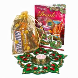 Diwali Chocolate Hamper with Rangoli and Card