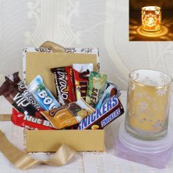 Diwali Imported Chocolate with Designer Shadow Diya