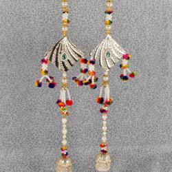 Exclusive Designer of Pearl String Long Diwali Door Hanging