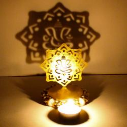 Exclusive Shadow Diya Tealight Candle Holder of Removable Ganesha