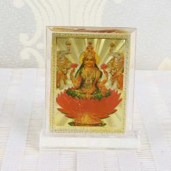Gold Plated Goddess Laxmi Table Top Frame