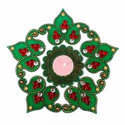 Green Shaded Artificial Diwali Rangoli