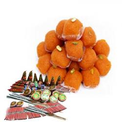 Motichur Laddoo and Fire Crackers Combo