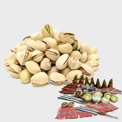 Pack of Pista with Diwali Fire Cracker