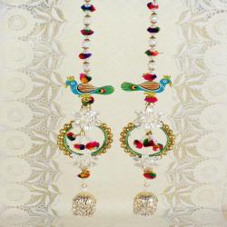Peacock Design of Pearl String Long Diwali Door Hanging