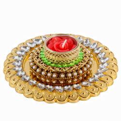 Royal Golden Acrylic Designer Diya