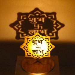Shadow Diya Tealight Candle Holder of Removable Shubh Labh