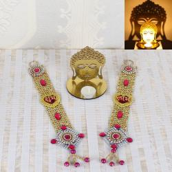 Shubh Labh Diwali Door Hanging and Acrylic Buddha Shadow Diya