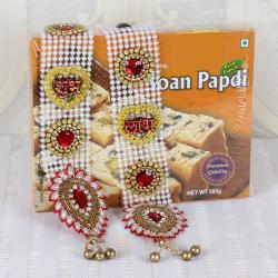 Shubh Labh Wall Hanging and Soan Papdi Sweets