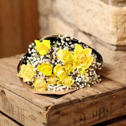 Soft Yellow Roses Bouquet